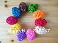Wholesale cm Multicolor Rattan Ball Woven Wicker Ball Wedding Hotel Home Decoration Arts Crafts