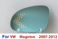 Wholesale curvature anti glare blue wide angle LED turn signal heated side car external curvature rear view Mirror for magoten