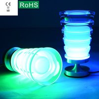 Wholesale High quality LED lamp Red green blue and white warm multicolor desk lamp The sitting room the bedroom adornment lamp gift lamp