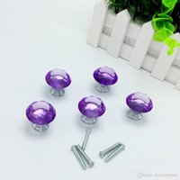 Wholesale 20pcs Lavender Color mm Diamond Shape Crystal Glass Pull Handle Cupboard Cabinet Drawer Door Furniture Knob Wholesales