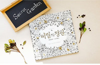 Wholesale Hot Secret Garden Coloring Book Adult Children Reliever Stress An Inky Treasure Hunt and Fill Graffiti Painting Drawing Book Christmas Gift