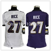 authentic ray rice jersey - Factory Outlet The best Christmas gift Ray Rice White Purple Youth Authentic Football Jerseys Size S XL Mix order