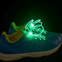 Wholesale 500PCS HHA470 LED Flashing shoe laces Fiber Optic Shoelace Luminous Shoe Laces Light Up Shoes lace