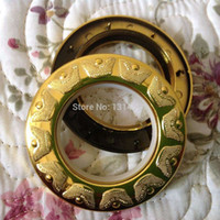 Wholesale 45 set High quality Curtain accessories ring roman grommet for curtains gold China Wind ingot shape hole digging circle