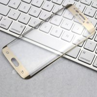 Wholesale 3D Curved Full Coverage Surface Anti scratch Screen Protector PET Film Guard for Samsung Galaxy S6 Edge Plus S7 Edge