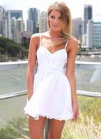 Wholesale Sexy Cotton Night Gown - European HOT Sexy Backless Short Dress V-Neck Above Knee MINI Dress Fashion Night Out Club Party Dress Drop Shipping BD015