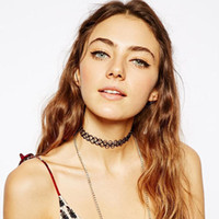 statement necklaces - 2015 fashion Handmade Vintage hippy stretch tattoo choker necklace Elastic line Punk Grunge Statement Necklaces Jewelry for women men