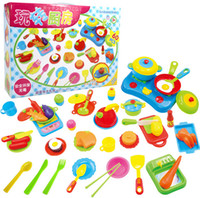 army set for kids - High Quality DIY Pretend Kitchen Ware Set toys Early Educational Classic Toy Plastic Kitchen Set Toys for your kids