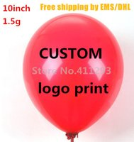 Wholesale Custom balloon printing in g Advertising ballon customized logo print balloons ball latex balloon ship by EMS