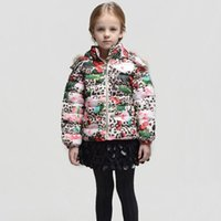 baby parka coat - Wlmonsoon Children Down Parkas Christmas Girls Winter Coats Leopard Pattern Faux Fur Hooded Baby Jacket Outwear Girls Outerwear Coat