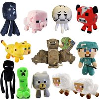 Long zombie - 2015 Fashion Children Soft Plush Toy cm quot Steve Creeper Zombie Ghost Doll Xmas Gift GAME Animal Patterns Kids Brinquedos Toys Dolls Minec