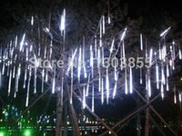 american standard shower - 2014 White Meteor Shower Rain LED Light Christmas Decoration Tree Party Valentine American Standard colors