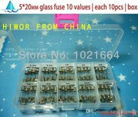 Wholesale Fuses MM Fast Quick Blow Glass Tube fuse Assortment Kit x20MM A A A A A A A A A A V Box A5