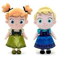 Wholesale 2014 Frozen Childhood Dolls cm Elsa Anna Baby Toys Doll Action Figures Plush Toy frozen dolls