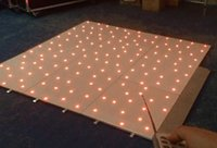 Wholesale RGB led dance floor white color black color custom made size hot sell USA CANADA Led Twinkling Dance Floor