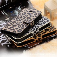 Cheap iPhone 6s Leather Case Leopard Print Style Silicone Case For iPhone 5 5S 6 6S Plus Samsung S5 S6 Edge Note 4 5