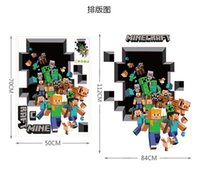 Wholesale In stock cm New D Walls Minecraft Wall Stickers Creeper Decorative Wall Decal Cartoon Wallpaper Kids Party Decoration