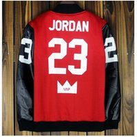 basketball jackets - Hip Hop Freestyle Basketball Coat Jordan Print Pu Leather Jacket Men Women Hot Sale Motorcycle Casual Jackets Sport Suit Men