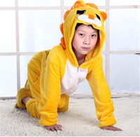 Wholesale Kids children Lovely lion Christmas gift Anime Cosplay Costume onesies Sleepwear unisex animal pajamas Theme Cartoon Hot sell