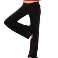 Polyester foldover yoga pants - Women s Yoga Pants Set Belly Dance Running Exercise Fitness Workout Outfit Women s Slimming Foldover Long Yoga Pants CTN SPANDX