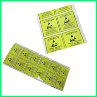 alarm labels - 48x48mm paper yellow and black stock alarm or warning self adhesive sticker label