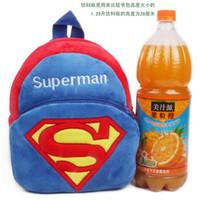 Wholesale baby Girls Boys mini soft plush superman Backpacks for T cartoon blue superman bag put the cady dolls backpack birthday gift free ship