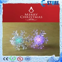 color changing night light - Mini Snowflake Style Christmas Lamp LED Changing Color Snowflake Christmas Night Light A