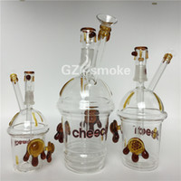 honey bottles - New heady Cheech Glass Water Pipe Honey Cup Two Tortoises Bubbler Bong Sizes Starbuck Cup dab oil rig Smoking Pipes Hookah Bongs bottle