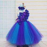 Newest vintage baby girls flower dresses summer kids clothes elegant
