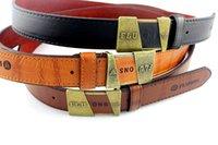 Wholesale Fashion Men s Leather belt copper buckle women mens dress jeans waist straps designer belts