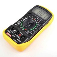 venda por atacado digital ammeter and voltmeter-AC DC Ohm VOLT Medidor voltímetro Ommetros amperímetro LCD multímetro digital