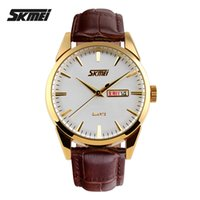 alloy steel india - Skmei Mens Leather Watches Fashion Watch Men Waterproof Quartz Watch With Week And Date Import Movement Leather Strap From India