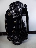 bag carts - golf staff bag new style Ti PU black sun flower Golf cart Bags quot in dividers