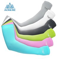 Wholesale AONIJIE Ciclismo Cycling Arm Sleeves UV Protection Bike Bicycle breathable Oversleeve for Outdoor Games Sports Cycling Hiking