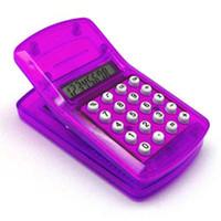 Wholesale Plastic mini portable magnetic paper clip mini calculator