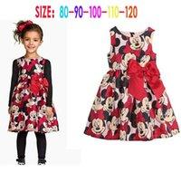 minnie dress - 2015 Baby girls minnie dress cartoon dress TUTU dress Girls Minnie Bow Dress children mickey clothes dress B102
