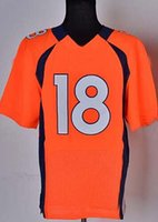 Cheap American Football Jerseys #18 Blue Elite Embroidered Cheap Football Jersey High Quality Sports Uniforms