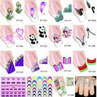 beauty free pandas - Feather Panda etc Design Water Transfer Nail Art Stickers Decal Beauty Cartoon Design Manicure Tools