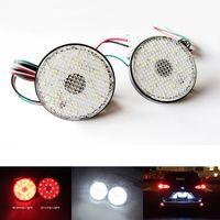 Wholesale Clear Lens LED Bumper Reflectors Rear Fog Tail Braking light Fit for Toyota Sequoia Highlander