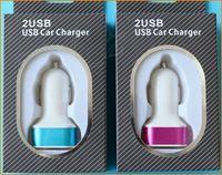 al por mayor coche iphone 4s-2 usb adaptador de cargador cargador de coche 5V / 2A de doble puerto para el iphone 6 más 5s 5 4s samsung s6 cargador de la tableta del ipad del aire