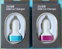 Wholesale 2 usb matt car charger V A dual port usb charger adapter for iphone plus s s samsung s5 note charger tablet ipad air mini
