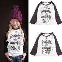 Wholesale 2015 retail Baby Cute Baby Girls Cotton T Shirt Wonderful Girl Toddler Long Sleeve letter T Shirt Blouse