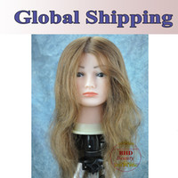 mannequin head - 18 quot Human Hair Hairdressing Training Practice Head Mannequin Manikin Head Brown Color