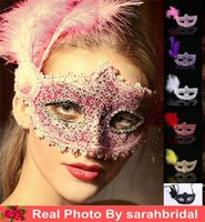 Wholesale 2016 New Fashion In Stock Venetian Costume Party Masks Masquerade Plastic Metallic Halloween Masks Cheap Good Price From China