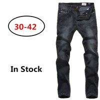 a960 - 2016 Fashion sports jeans slim straight denim black jeans for men High quality men s Vintage dark jeans pants A960
