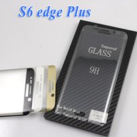 Wholesale S6 Edge Plus S6 Edge D Full Cover Curved Tempered Glass Screen Protector With Wood Retail box