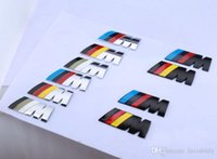 logo design free - Beauty Design Logo M Car Stickers Metal Material Fitting Decorate BMW Car Body Chrome Badge Car Emblem DHL Free Size cm