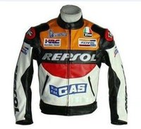 automobile clothing - new Flower PU clothing automobile race ride clothing repsol motorcycle jacket motorcycle clothing automobile race jacket