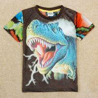 Boy animal t shirts - 2y y Boy shirts new stock nova kids kids summer clothes animal dragon D print fabric short sleeve t shirts C5040