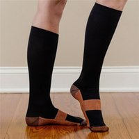 Wholesale New Miracle Copper Anti Fatigue Compression Socks Soothe Tired Achy Unisex Women Men Anti Fatigue Magic S M L XL
